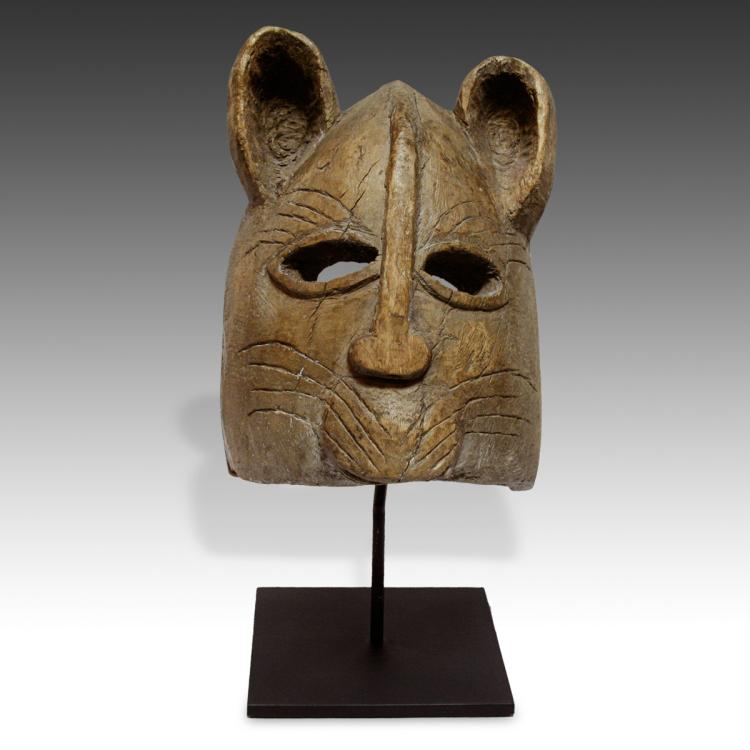 Helmet Mask Depicting Feline, Based