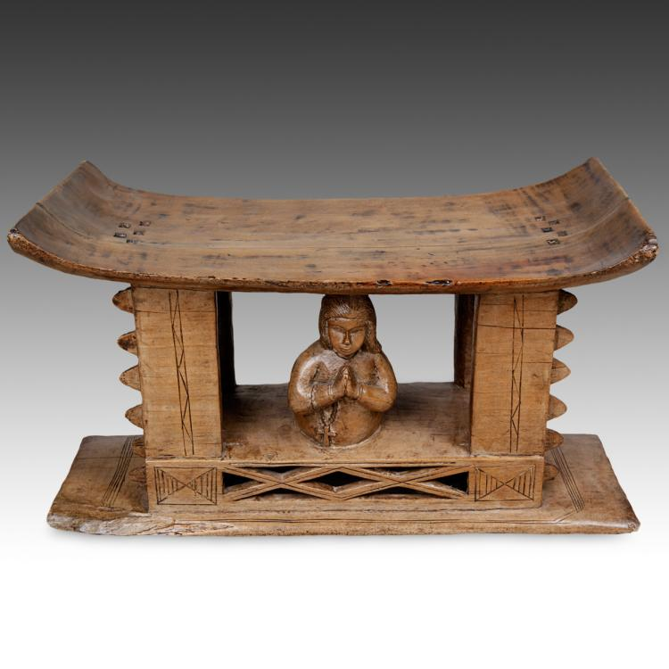 Stool with Christian Figural Motifs