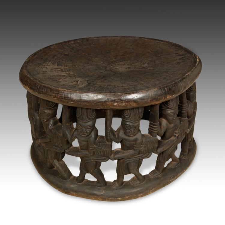 Stool with One Row of Figures