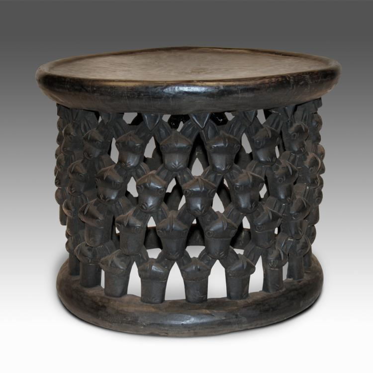 Stool with Water Buffalo Motif