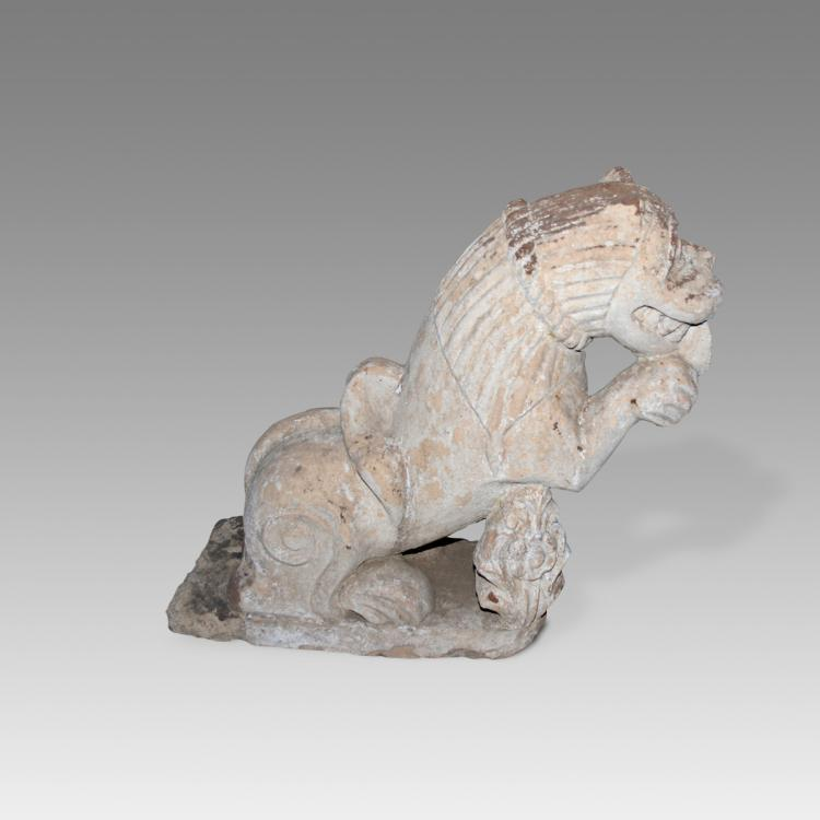 Temple Fragment Depicting Feline