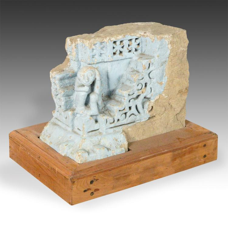 Temple Fragment with Monkey Motif, Based