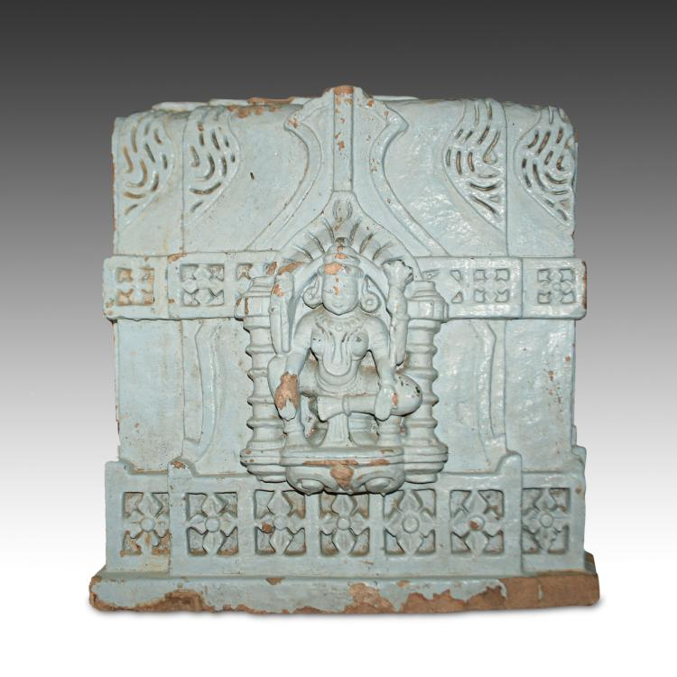 Temple Fragment with Deity Motif