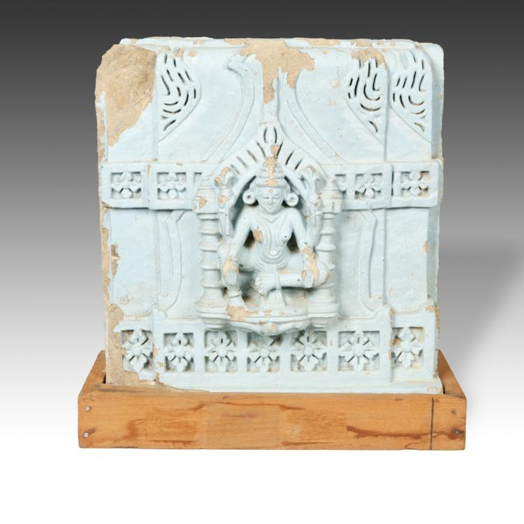 Temple Fragment with Deity Motif, Based