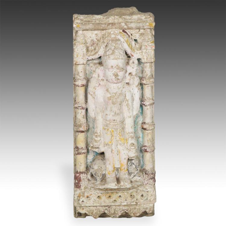 Temple Fragment with Figure