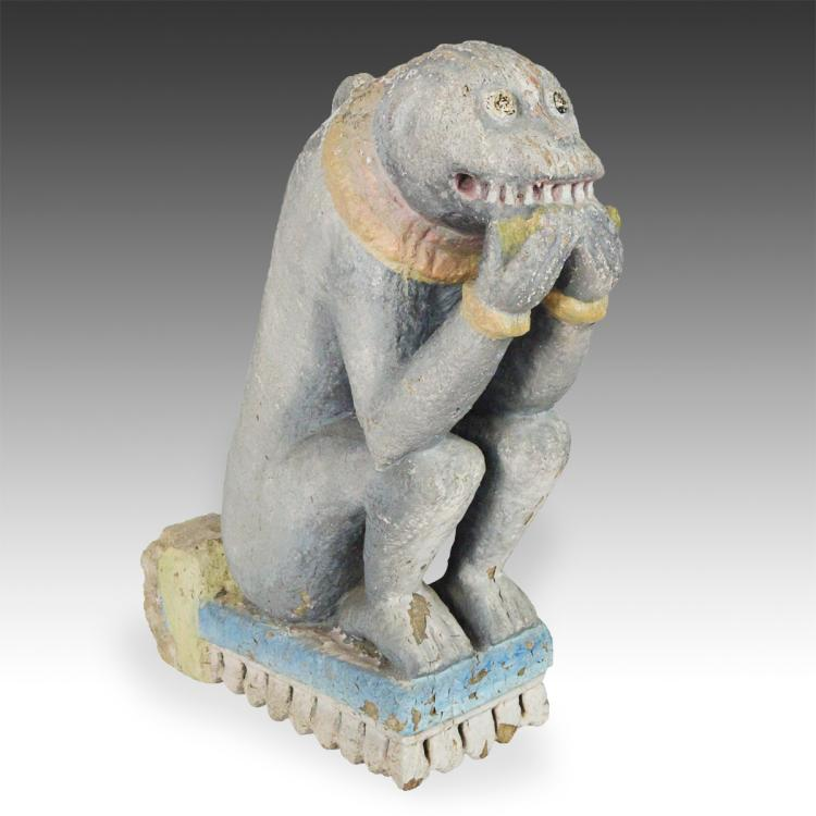 Temple Fragment Depicting a Monkey