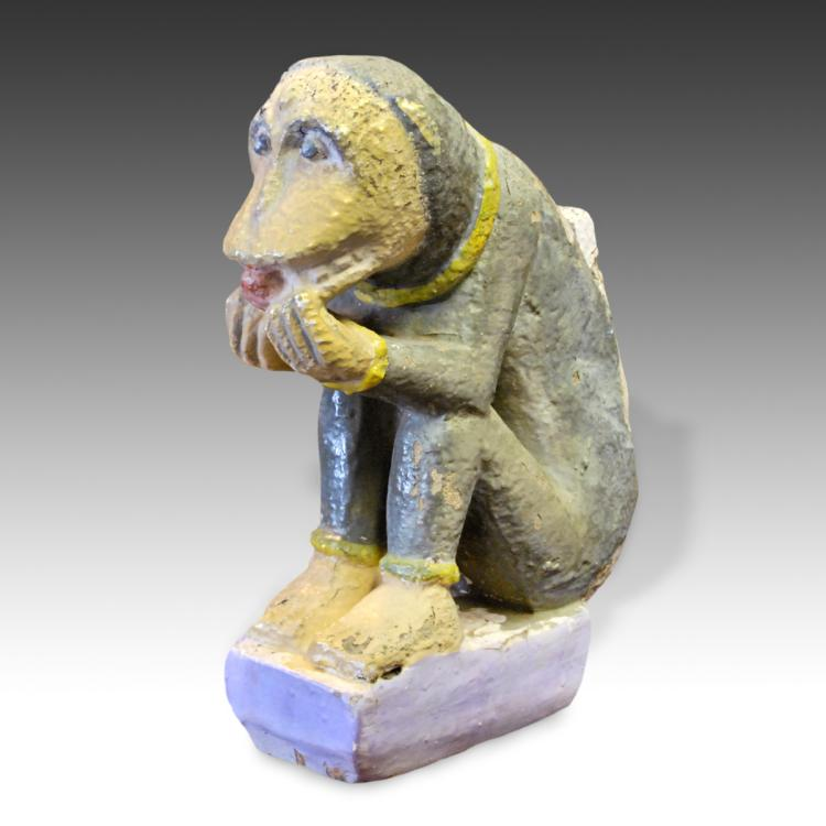 Temple Fragment Depicting Monkey