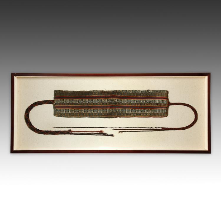 Pre-Columbian Textile Belt, Framed