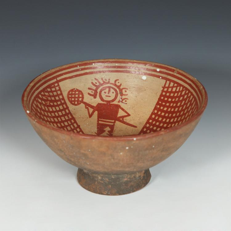 Footed Bowl with Figural Motif