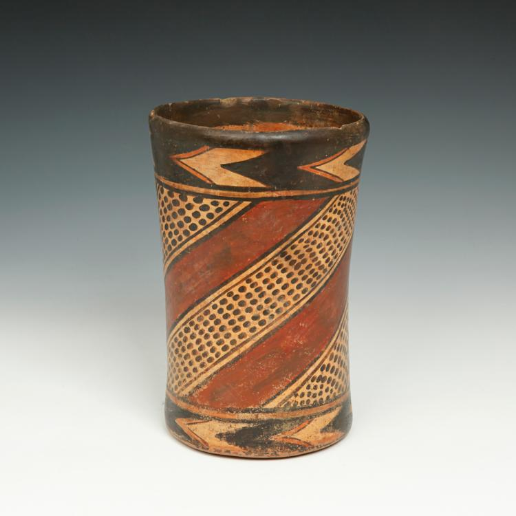 Cylinder Vessel with Animal Spot Motif