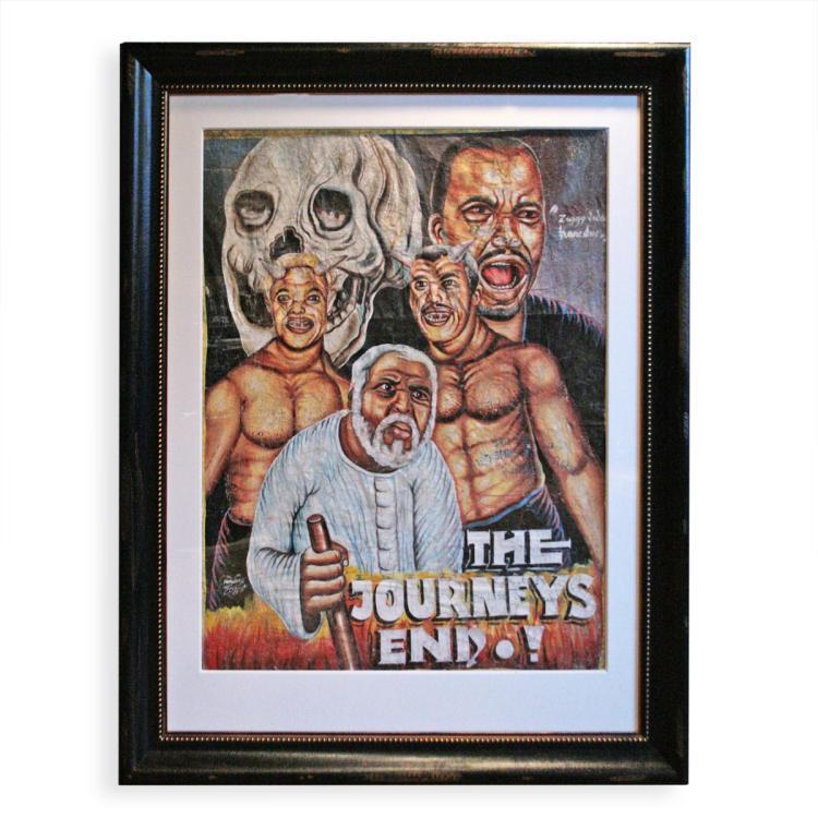 African Movie Poster, Framed