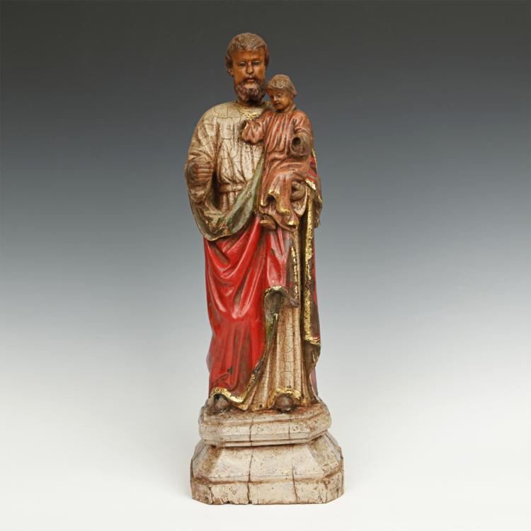 Standing Figure of Joseph and Jesus