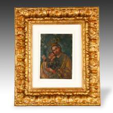 Retablo or Devotional Painting, Framed