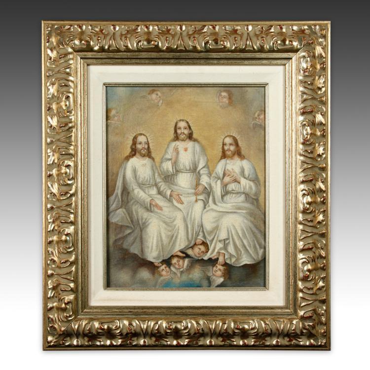 Colonial Religious Scene, Framed