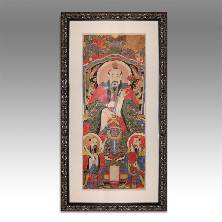 Temple Scroll, Framed
