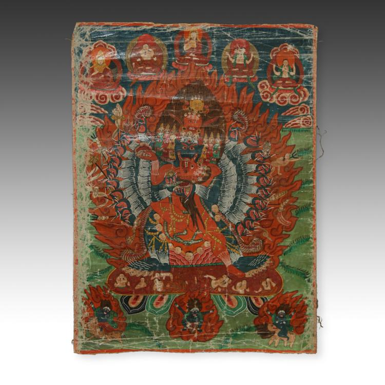 Thangka or Devotional Painting