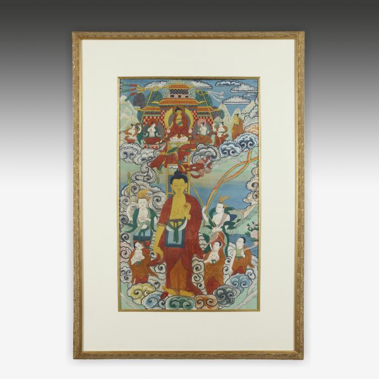 Thangka or Devotional Painting, Framed