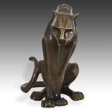 Modernist Seated Figure of a Leopard