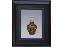 Embroidery hexagonal bottle (Suzhou Embroidery with Vase Pattern)