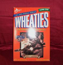 "1997 Vintage ""Jackie Robinson, 50th Anniversary"" Unopened General Mills Wheaties Cereal Box."