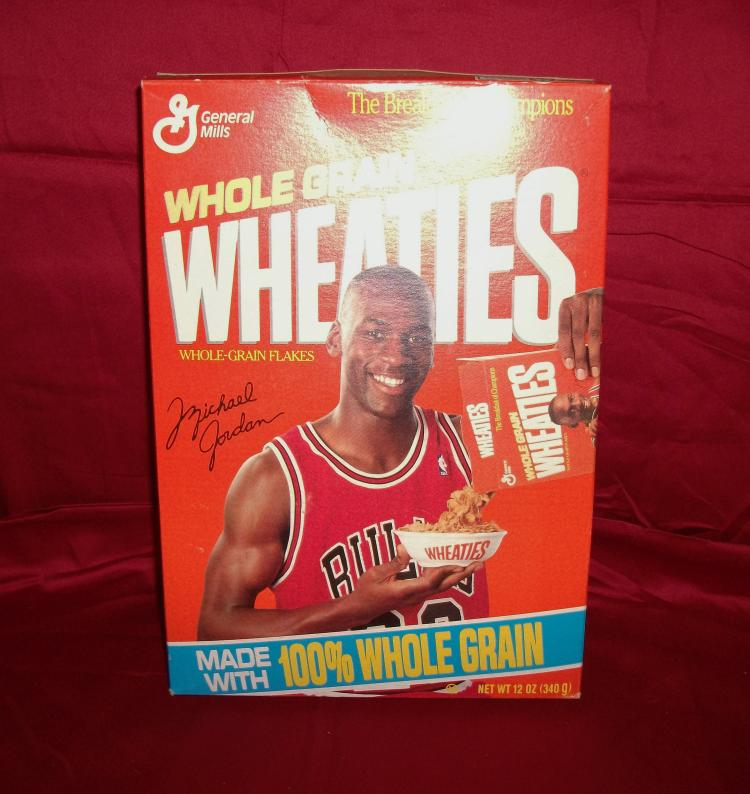 "1990 Vintage ""Michael Jordan"" Unopened General Mills Wheaties Cereal Box."