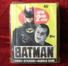 DC Comics 1989 Vintage Full Case of Batman 2nd Series Trading Cards! Unopened 36 Count! Rare!!