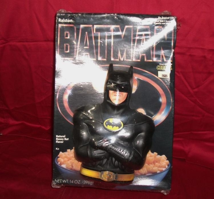 DC Comics Rare 1989 Unopened Box of Ralston Batman 14 oz. Cereal with Batman Bank Special Offer Included!