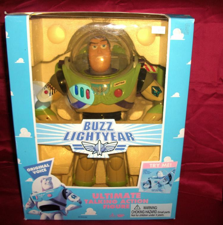 Original 1995  Disney Buzz Lightyear with Box. Appears to Be Near Mint Full Size Action Figure.