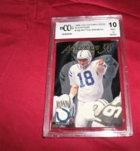 1998 PEYTON MANNING  ROOKIE RC GRADED TRADING CARD ADVANTAGE MINT 10 BECKETT BCCG. NFL FOOTBALL