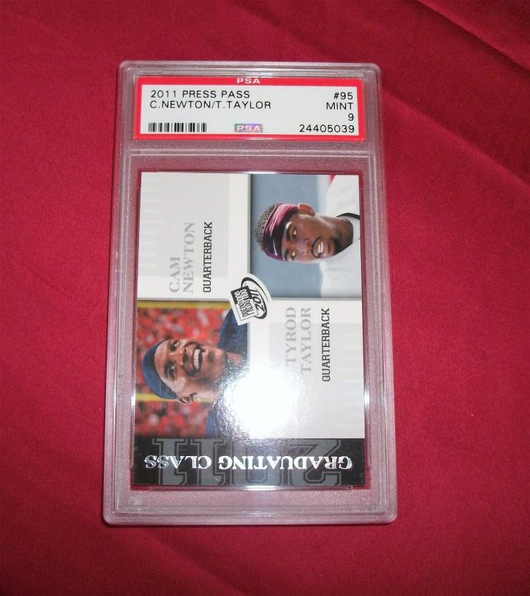 2011 CAM NEWTON TYROD TYLER ROOKIE CARD RC #95 PRESS PASS GRADED MINT PSA 9.
