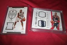 Lot of 2! NBA 2015 National Treasures Hakeem Olajuwon 88/99 & Ray Allen 55/99. Nice Patch Low No. Cards