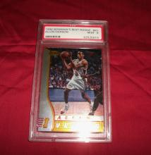 1996 Allen Iverson Rookie (RC) Bowman's Best Rookie #R1 Trading Card. Graded PSA 9 Mint. NBA HOF Player.
