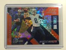 2016 Marcus Mariota Unparalleled Panini Refractor NFL Trading Card #78/99. Very Super Card!