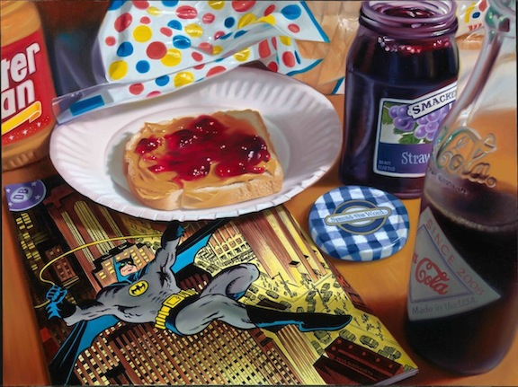 BATMAN PEANUT BUTTER Photorealism Artwork, Limited Edition by Doug Bloodworth, Nice Design! Large 19