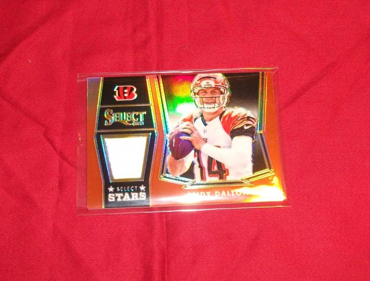 2014 Andy Dalton NFL Trading Card Panini Select Stars Game-Worn