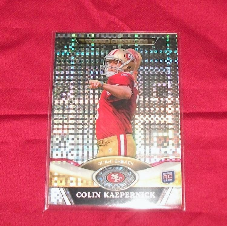 2011 Colin Kaepernick Rookie (RC) NFL Topps Trading Card Refractor. Nice Card!