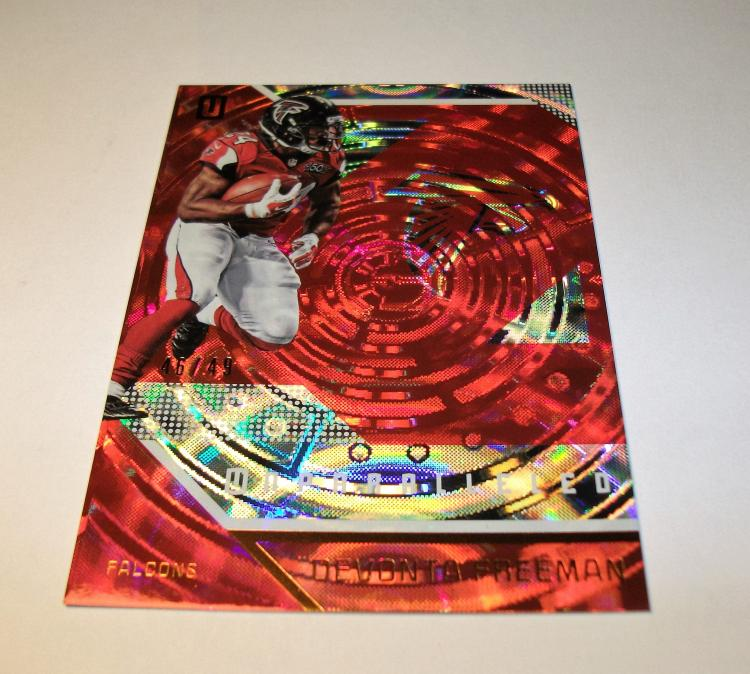 2016 DEVONTA FREEMAN UNPARALLELED REFRACTOR NFL TRADING CARD #46/49 BY PANINI