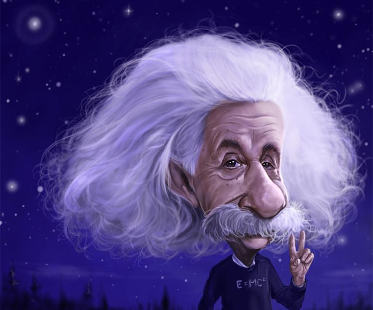 Albert Einstein Photorealism Artwork, Limited Edition by Rich Conley, Large 28