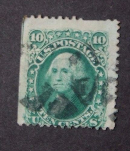 US STAMP SCOTT# 68 WASHINGTON 10 CENTS, USED, CAT. VALUE $40 TO $60. DATE: 1861
