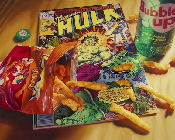 CHEETOS HULK Photorealism Artwork, Limited Edition by Doug Bloodworth, Nice Design! Large 19