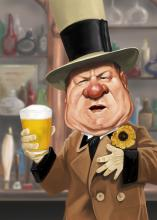 WC Fields Photorealism Artwork, Limited Edition by Rich Conley, Large 28