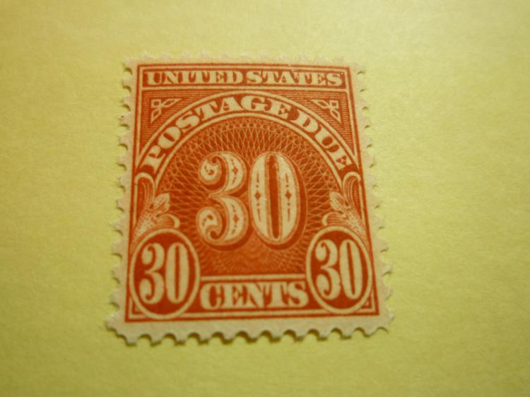 US STAMP SCOTT# J85 POSTAGE DUE 30 CENTS, MINT NH. NICE CENTER AND COLOR. DATE 1931-35