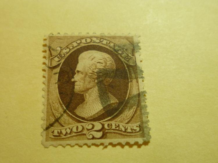 US STAMP SCOTT# 157 JACKSON 2 CENTS (USED). CAT. VALUE $20 TO $25. DATE 1873.