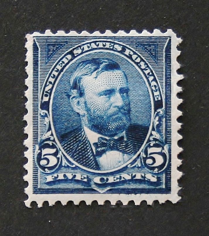 US STAMP SCOTT# 281 GRANT 5 CENTS, MINT, UNUSED. CAT. VALUE $25 to $32.50. DATE 1897-1903.