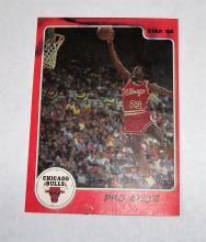 1986 Star Michael Jordan HOF #4 Pro Stats NBA Trading Card VERY RARE UNGRADED HAS WATER DAMAGE. SEE PHOTOS