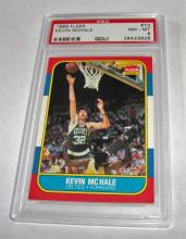 1986 Fleer Kevin McHale HOF #73 NBA Trading Card GRADED PSA NM-MT 8.