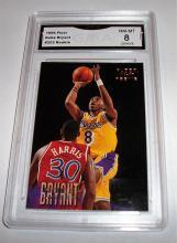 1996 Fleer Kobe Bryant #203 Rookie NBA Trading Card GRADED GMA NM-MT 8.