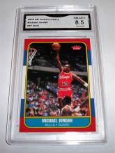 2009 Upper Deck Michael Jordan #97 Legacy Gold Rookie RP NBA Trading Card GRADED GMA NM-MT +8.5.