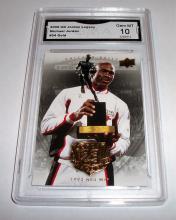 2009 Upper Deck Michael Jordan HOF #54 Legacy Gold GRADED GMA GEM MINT 10.