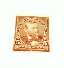 US Stamp Scott# 255 Grant 5 Cents, Appears Mint or Slight Used. Date 1894